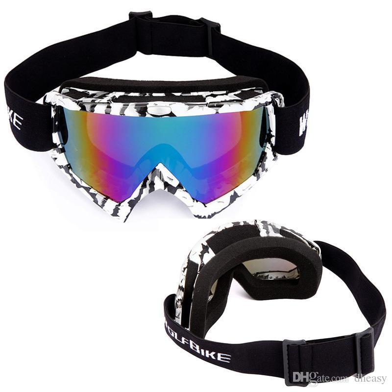 WOLFBIKE Kayak Gözlükleri Marka Açık Spor Snowboard Skate UV400 Koruma Gözlük Erkek Kadın Kar Kayak Güneş Gözlükleri CS Bisiklet Gözlük