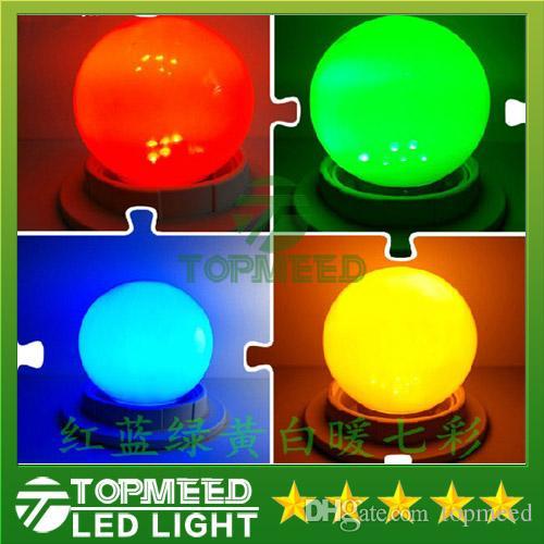 Epacket RGB Tam Renkli 0.5W 1W 2W 3W E27 LED top Ampul ışığı Etkisi DJ dünya Lamba kabarcık Sahne Aydınlatma