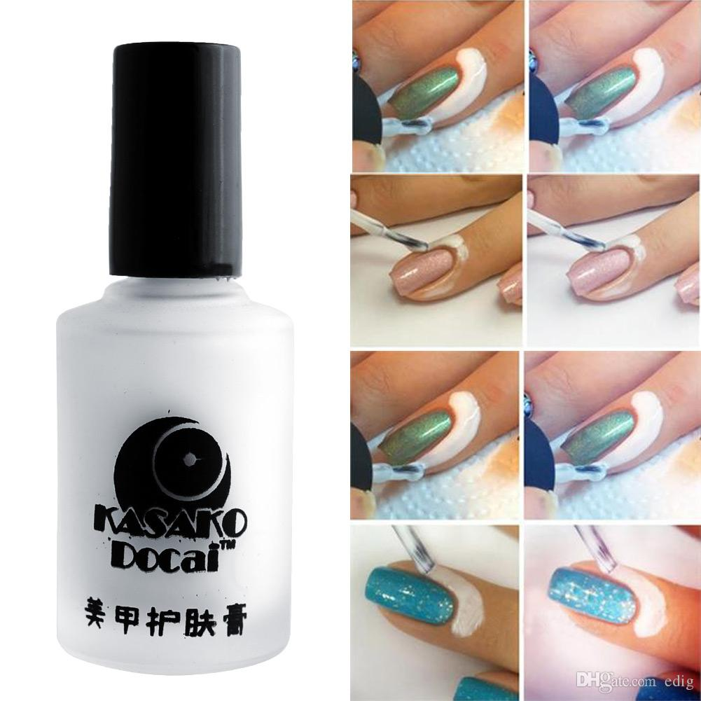 Fashion 15ml White Peel Off Coat Liquid Tape Cream Nail Art Polish Separating Palisade Manicure