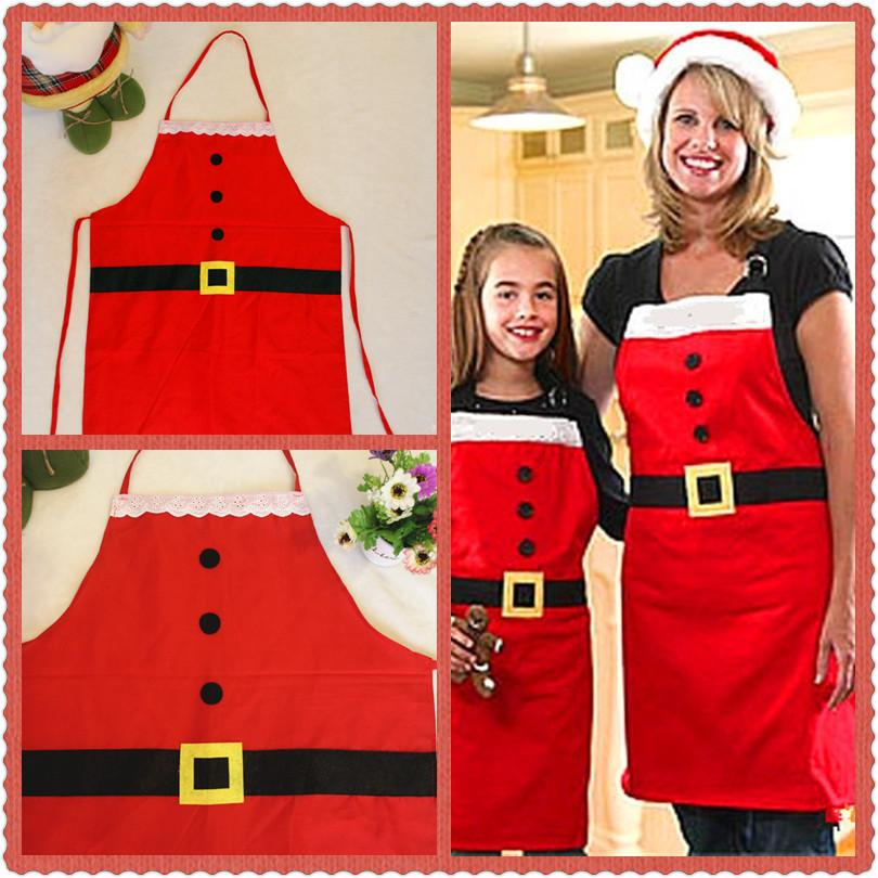 2018 Christmas Mrs. Claus Kitchen Baking Crafting Apron for Holidays Decorat Chef Apron Adult Perfect Hostess Gift Stocking Stuffer