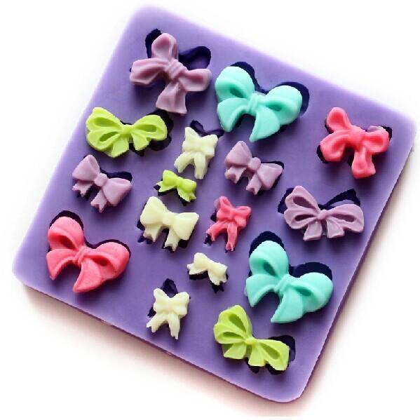 Mini Bowknot fondant silicone mold chocolate mould candy resin molds silicone mould fondant cake decorating tools TY1797