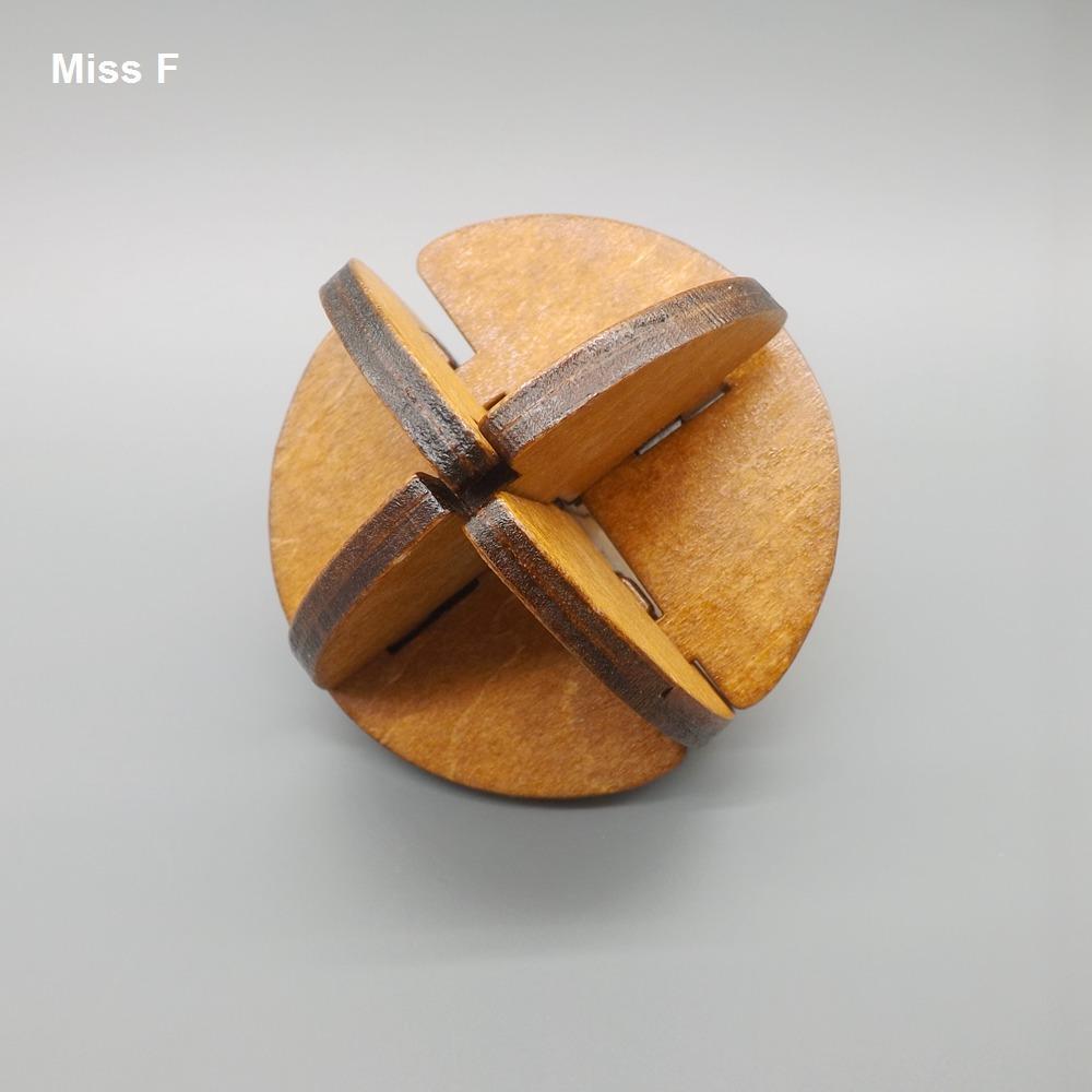 Perfeitamente brinquedos de madeira paciência passatempos adulto enigma inteligente Lu Ban bola bloqueio