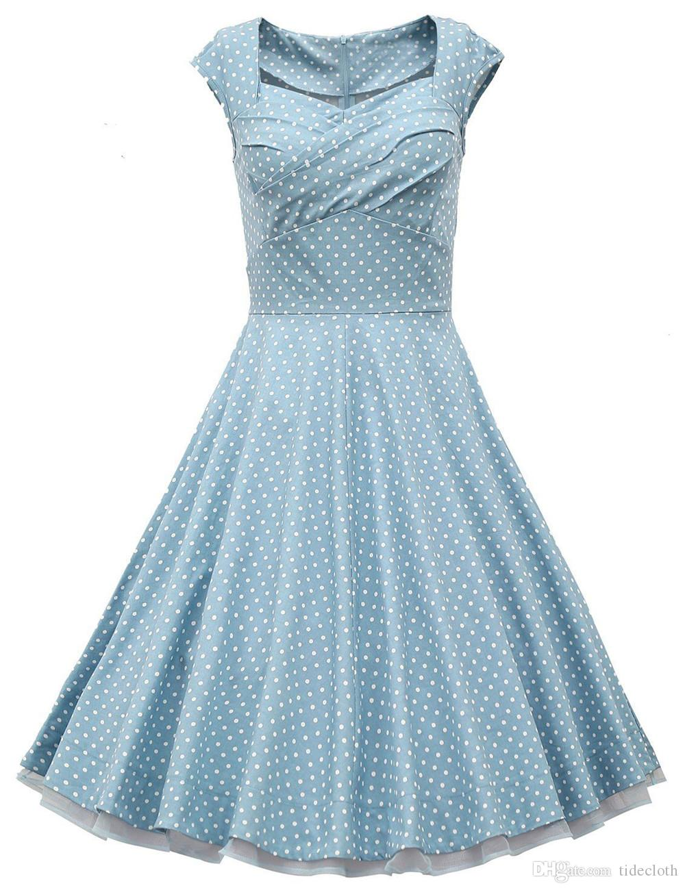 Cheap Prom Dress Cap Sleeves Retro Vintage 1950s 60s Short Party ...