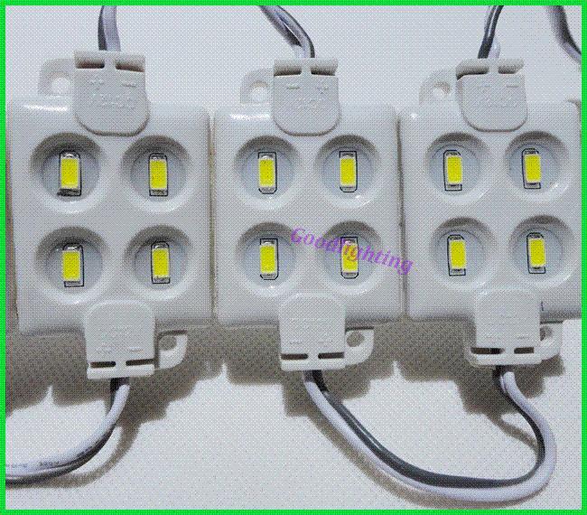 20pcs / lot 주입 led 흰색 모듈 2014 새로운 led 백라이트 채널 문자 DC12V SMD 5630 4led 방수