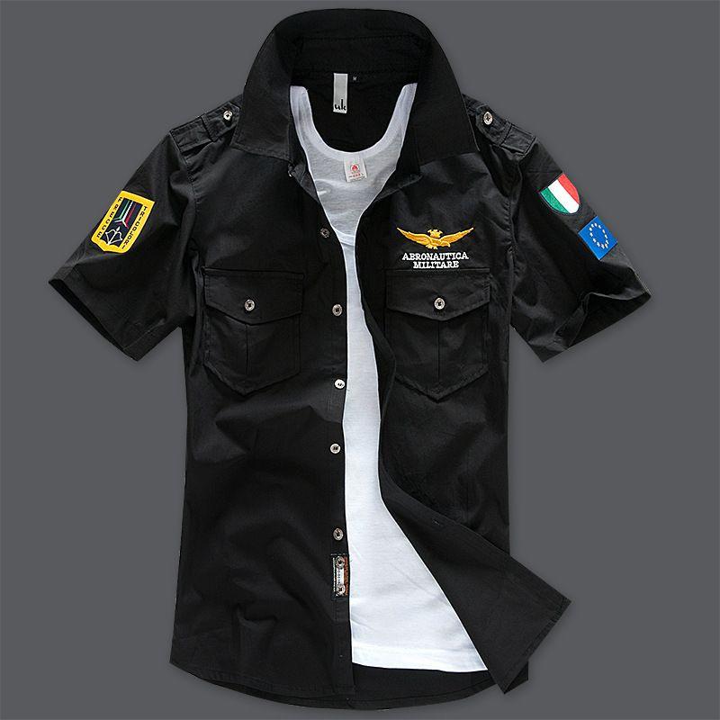 Wholesale-New fashion 2016  uniform short sleeve shirts men dress shirt free shipping