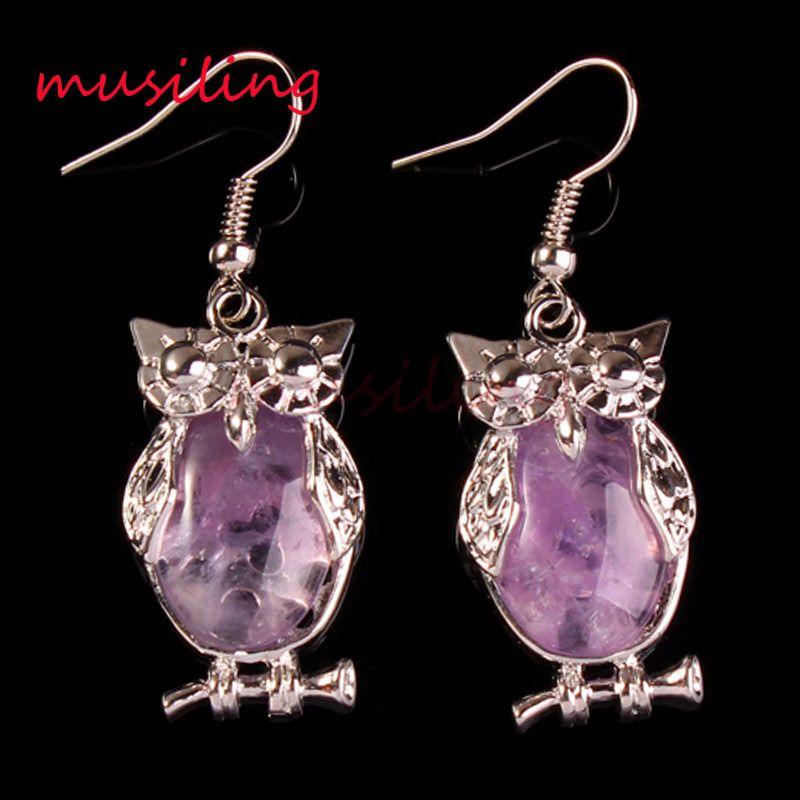 Handmade Amethyst Women 925 Silver Wedding Opal Dangle Drop Earrings Jewelry