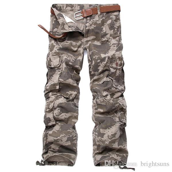 Nouveau Style Nouveau Hommes Casual Pantalon Extérieur Militaire Armée Cargo Camo Combat Travail Pantalon Hommes Coton Militaire Camouflage Pantalon