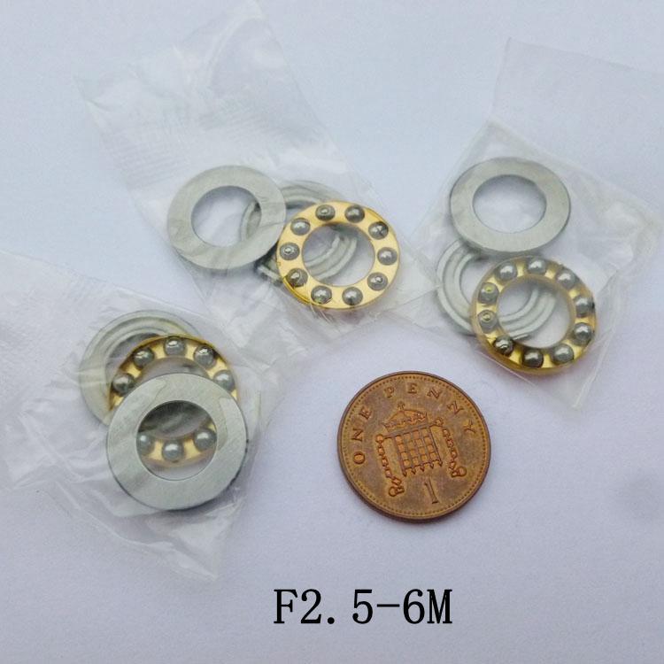 100 pcs F2.5-6M Rolamentos Axiais de Rolamento de Esferas 2.5x6x3 em miniatura Avião rolamento de esferas 2.5 * 6 * 3mm