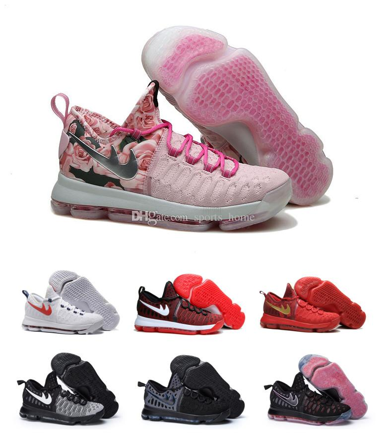 wholesale dealer 436aa 078c2 2019 KD 9 IX Breast Cancer Mens Basketball Shoe KD9 PBJ Men Sports  Shoes,Men'S Athletic Shoes US7 12 From Sports_home, &Price; | DHgate.Com
