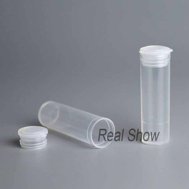 100 قطع زجاجة بلاستيكية فارغة 5 ملليلتر pp زجاجة صغيرة ختم أنبوب واضح زجاجة جرة حاوية التعبئة البلاستيكية