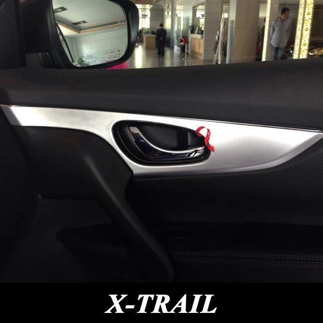 Für 2015 Nissan X-Trail X Trail ABS Chrom Innentürgriff Schüssel Abdeckung Innenseite Tür Dekorative Zierblende Autozubehör