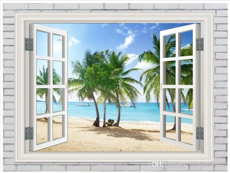 High end Custom 3d photo wallpaper murals wall paper Maldives landscape 3D living room wallpaper background wall home decor