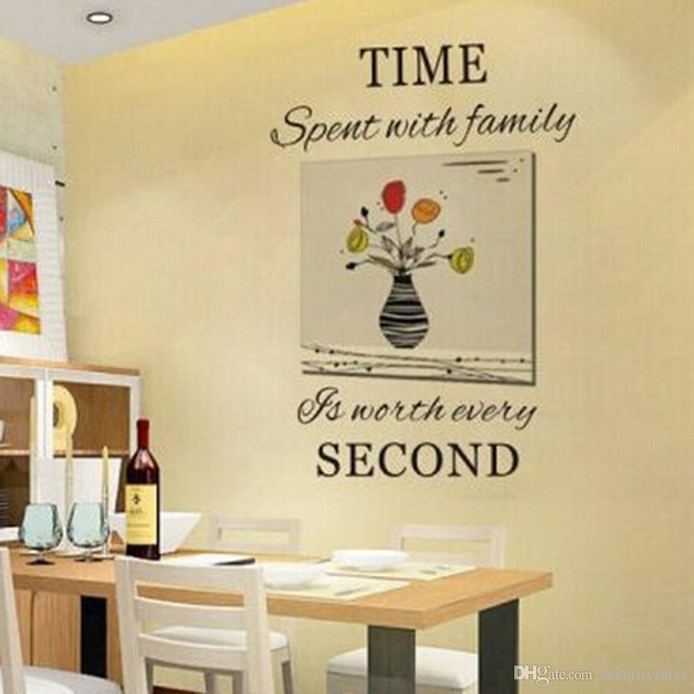 Wall Vinyl Time Second Hand Carved Wall Stickers Removable ...