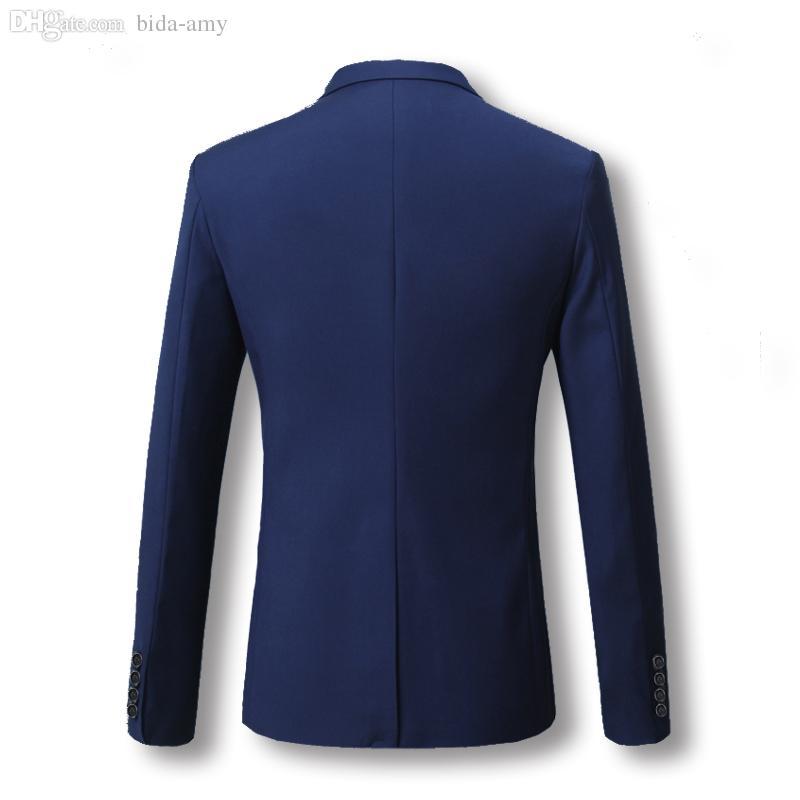 도매 - 남성 블레이저 2016 신품 남성 5 색 캐주얼 자켓 Terno Masculino 최신 코트 디자인 블레이저 남성 의류 플러스 사이즈 M-6XL