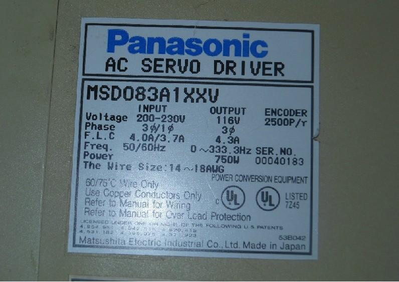 MSD083A1XXV servo driver usado