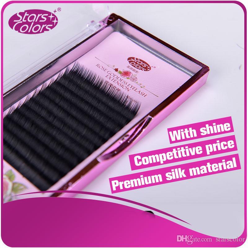 4 boxes Top Selling Rose Godness Eyelashes single Natural Eye Lashes Charming High Quality Makeup Silk material Eyelash Extension
