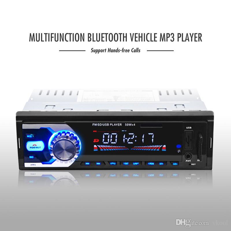 Lettore MP3 per auto Lettore MP3 per auto 12 V Lettore musicale Bluetooth V2.0 Chiamata a mani libere Auto Audio Stereo SD Lettore MP3 AUX USB