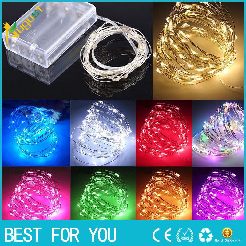 10M 100 LED AA Battery Micro Rice Wire Copper Fairy String Lights Warm White