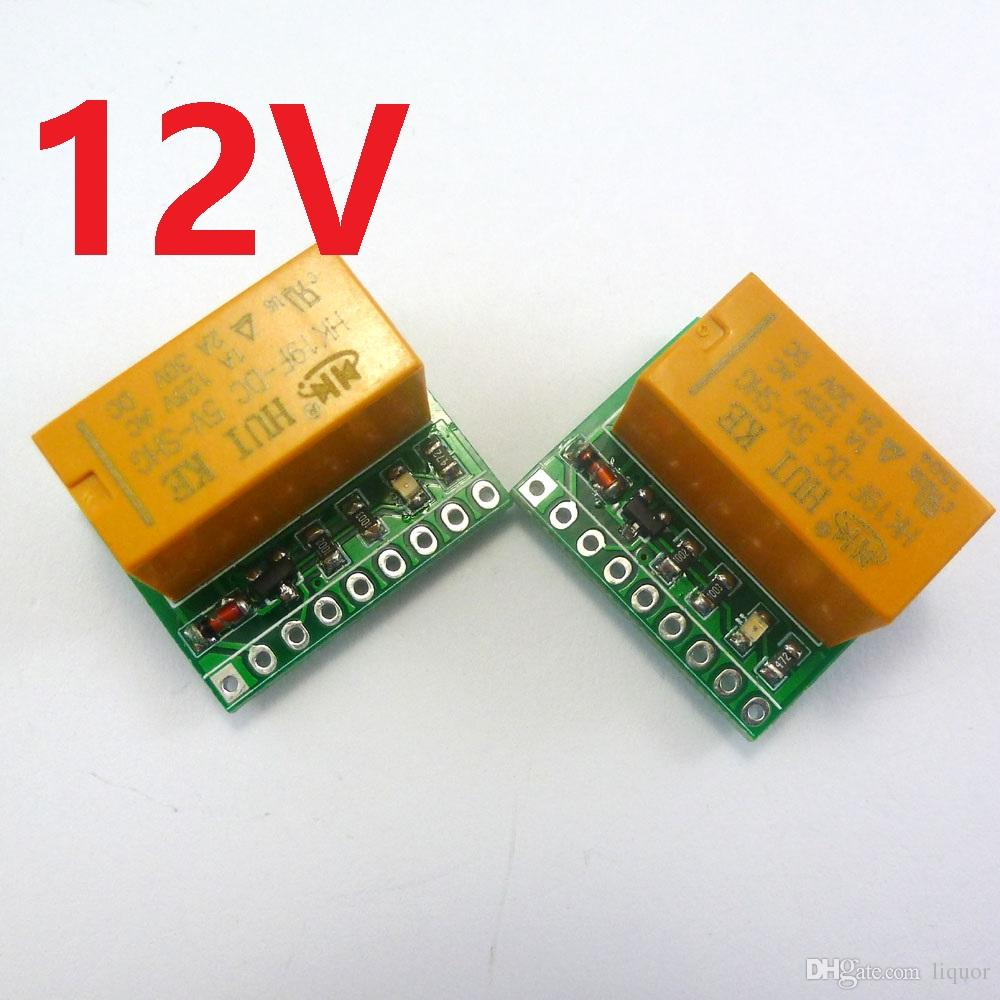 2PCS 12V 2A DPDT Relay Board HK19F PCB Module for Motor LED stereo Quadcopter Toy car