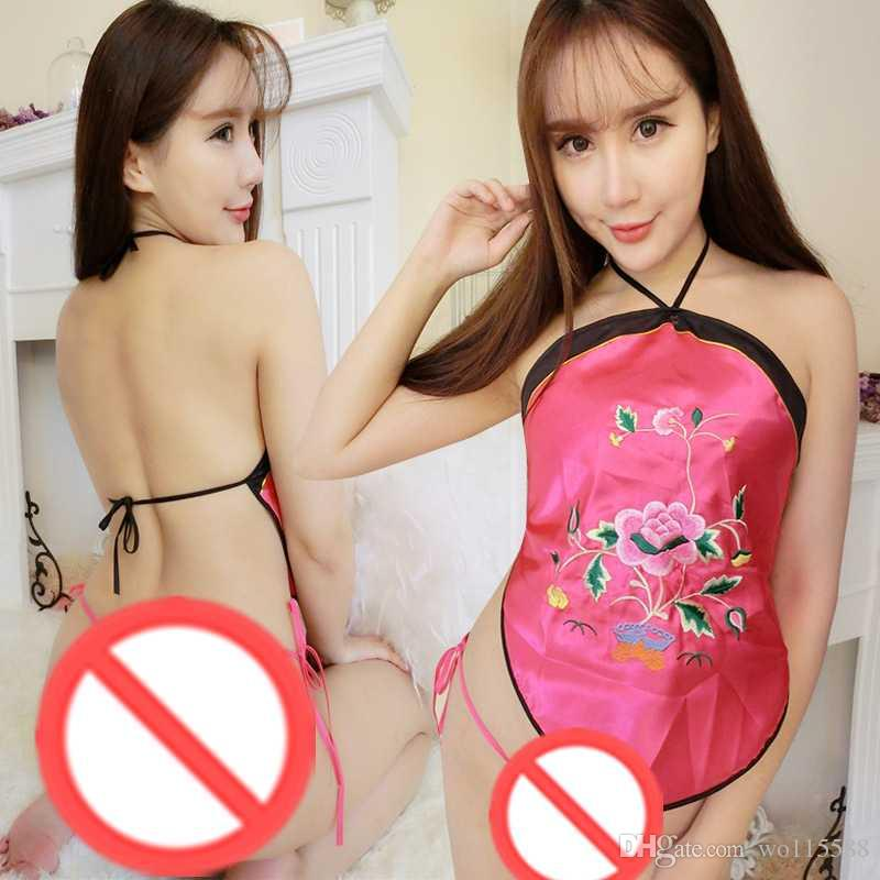 Free shipping new sexy lingerie cosplay fun dumplings ladies sexy adult sets of national wind court embroidery underwear sling ancient pajam