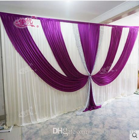 Shiny Sequnis Wedding Swag wedding stage backdrops decoration ...