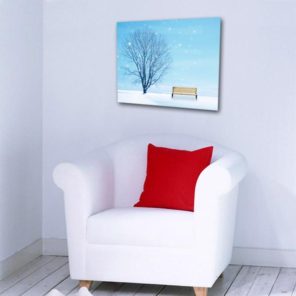 unframed Free shipping 1 Piece Home decoration picture Canvas Prints winter snow tree chair flower city Abstract painting girl Wine Glass