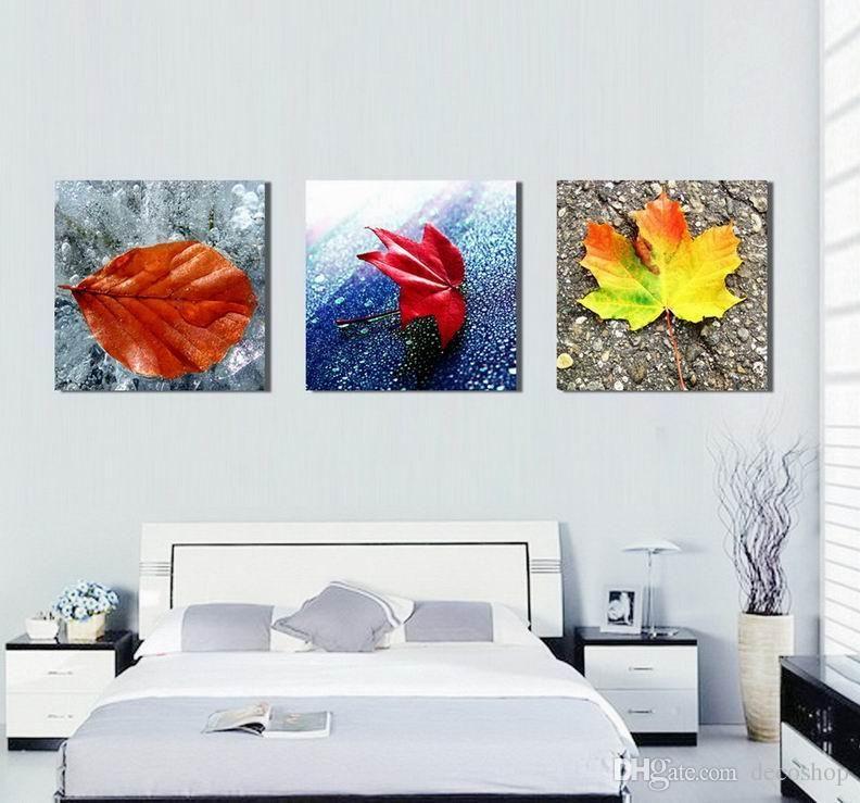 Moderno bonito Imprimir Folha Belas Floral Imagem Giclée em tela Home Decor Wall Art Set30424