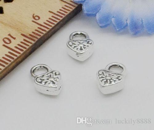Тибетский Серебряный сердце подвески кулон для ювелирных изделий 10x6mm