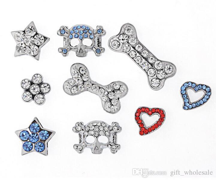 Großer Verkauf! Modische Strasssteine 20mm Diacharme DIY für Hund / Hundehalsband Haustier Schmuck Haustier Mode Großhandel