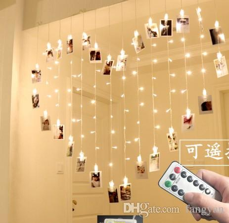more photos 176bf 0d4cc 2M * 1.6M150 Leds Heart Shaped Butterfly Clip Lights Remote Control Girl  Heart Marriage Table White Birthday Wedding LED Flash String Lights String  ...