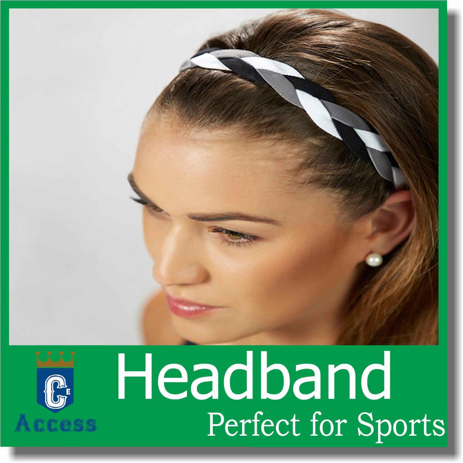 Dam Twist Knot Mönster Headband Elastiskt Head Wrap Turban Hair Band Flätade Headbands Plaited Stretch Headband No Slip
