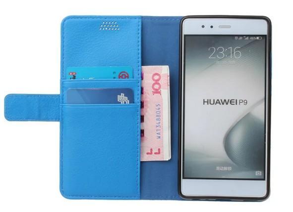 Noble per Huawei P9 Custodia Portafoglio di alta qualità Flip Back Cover Luxury Colorato Ultra-sottile Custodia in pelle originale per Huawei Ascend P9