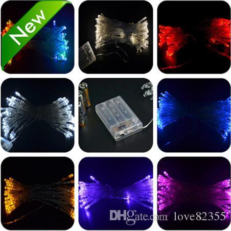 Batteriebetriebene Mehrfarben-3M 30 LED feenhafte helle Großhandelsschnur-Hochzeitsfest-Weihnachtsfest-Dekorationen geben Verschiffen frei 10 Stücke / Los