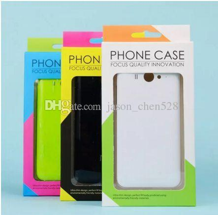"""Cell Phone Cases Retail Box Package Colorful fashion retail packages paper blister box for 4.7""""-6.5""""cell phone case cover package"""