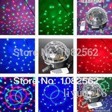 led magic crystal ball light disco party KTV bar 4 in one with USB led effect light