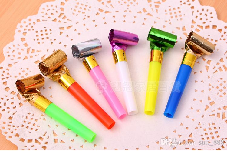 Free shipping creative children small toys blow whistle blowing dragon roll whistle blowing dragon horn birthday boys and girls