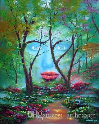 Jim Warren Trees Beas Art pintura al óleo, pintado a mano de alta calidad / impresión en HD decoración de la pared del hogar paisaje pintura al óleo sobre lienzo Mulit tamaños