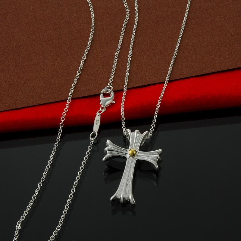 Factory direct wholesale and retail 925 Sterling Silver Chain Gold Cross Necklace Fashion Silver Necklace