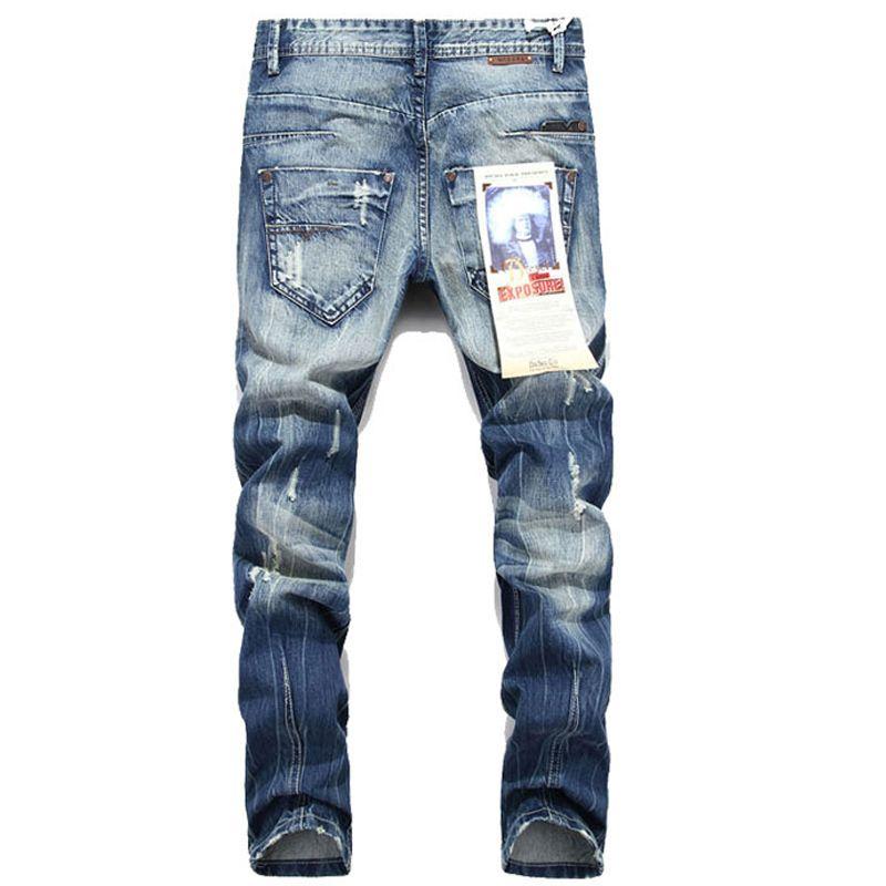Gros-HOT Mode Jeans Hommes Déchiré En Détresse Détruit Hip Hop Rock Pantalon Hommes Casual Pantalones Vaqueros Hombre Marce MYA0382