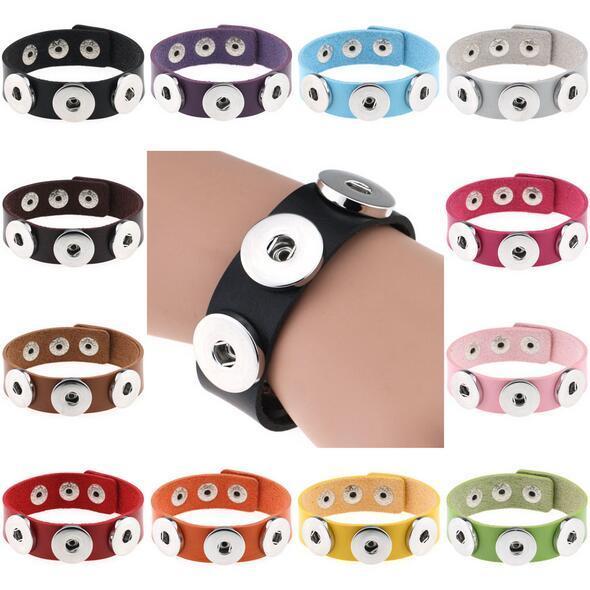 Mode noosa morceau charme bracelet pu bricolage boutons pression boutons de gingembre boutons nosa bracelets bracelets bracelet pour femmes déclaration bijoux