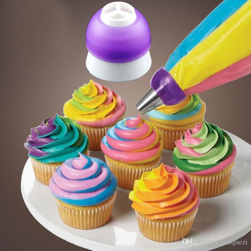 Boquillas para tuber/ías de hielo Consejos Crema para pasteler/ía Convertidor Herramientas para decoraci/ón de pasteles Set Herramientas para pasteler/ía Accesorios para hornear Color: 3 colores