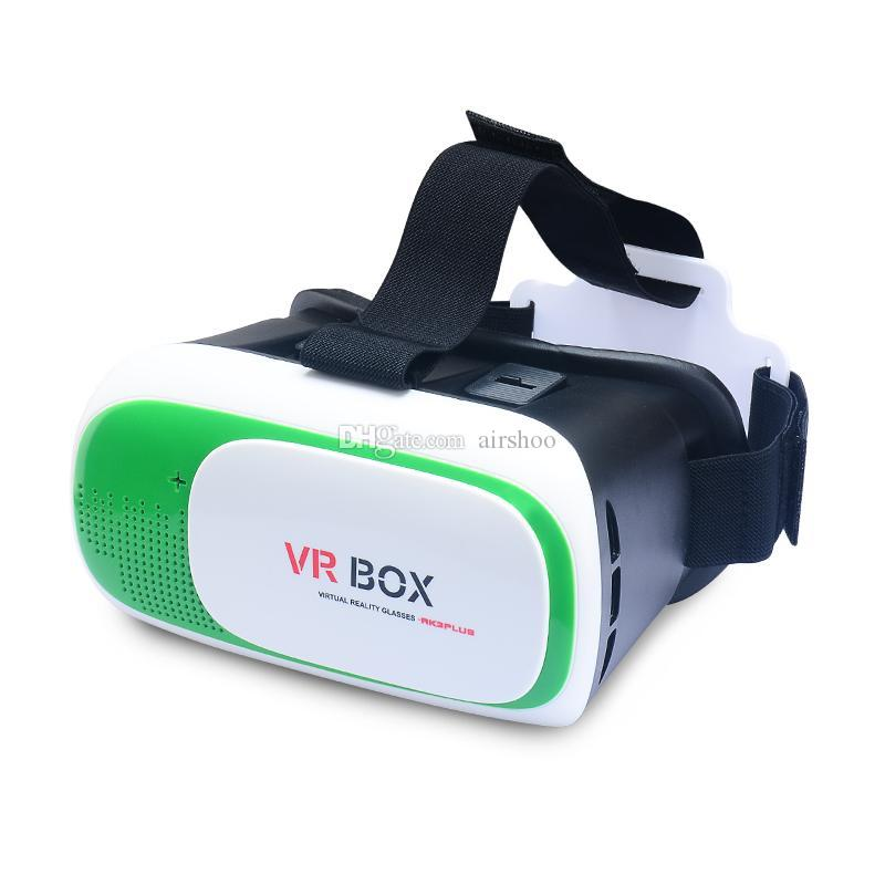 """MOQ100pcs VR BOX 5 Couleurs 3D Smart VirtualReality Lunettes pour 3D Jeu Film pour 3.5-6.0 """"téléphone avec boîte de Détail et Gamepad"""