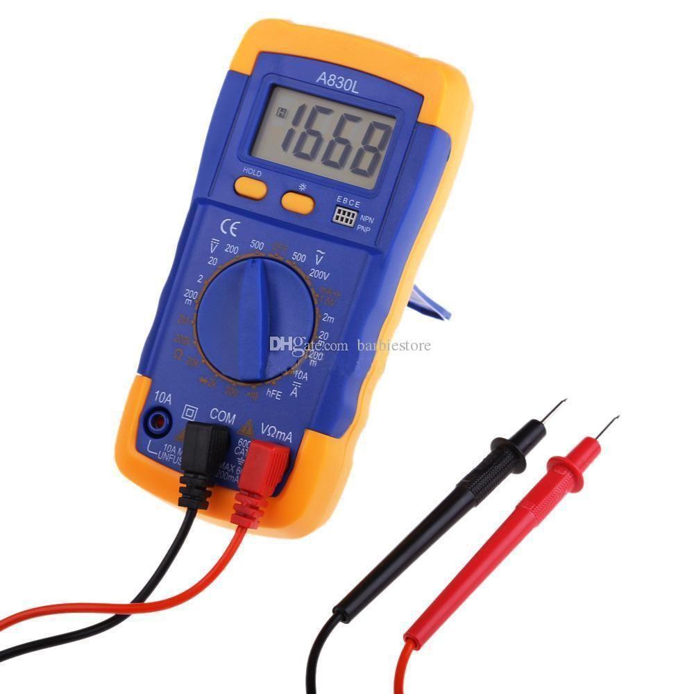 Voltmetro digitale LCD A830L Amperometro Ohmetro Volt AC DC Tester Multimetro B00329 OSTH