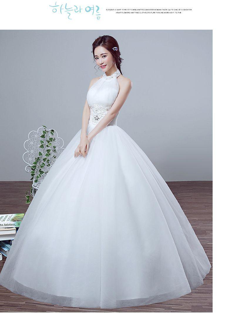 In The Spring Of 2016 New Korean Wedding Qi Halter Slim Slim Lace ...