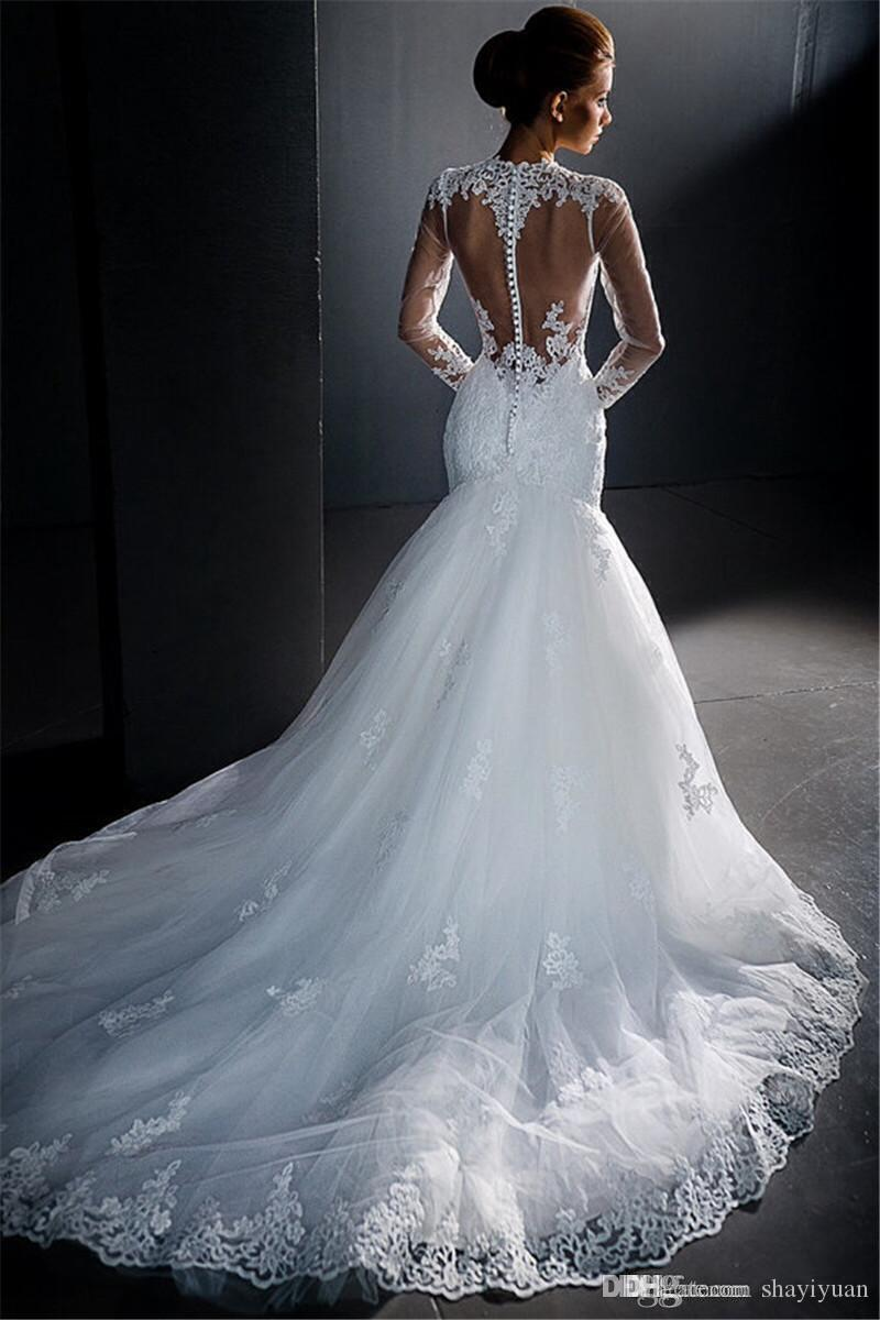 wholesale trumpet mermaid lace wedding dresses 2016 pnina tornai ...