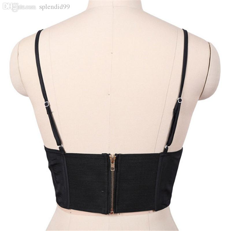 Wholesale-Hip Hop Tanks Sexy Top Women Vest Bralet Bandage Top Swag Camisoles