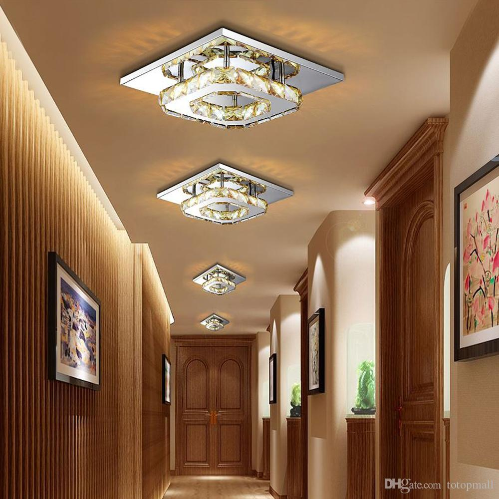 Modern led crystal ceiling light fixture square led crystal lamp 12w modern led crystal ceiling light fixture square led crystal lamp 12w led pendant lamp hallway corridor mozeypictures Images
