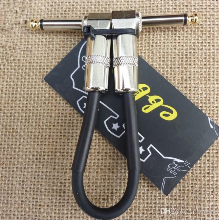 جودة عالية 20.5 سنتيمتر الأسود غيتار كهربائي مكبر الصوت كابل تأثيرات الغيتار الدواسة كابل أجزاء الغيتار الموسيقية