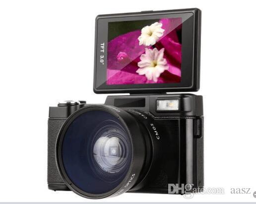 24MP HD نصف DSLR الكاميرات الرقمية المهنية مع 4X تليفوتوغرافي، Fisheye عدسة واسعة الزاوية الكاميرا كاميرا ماكرو
