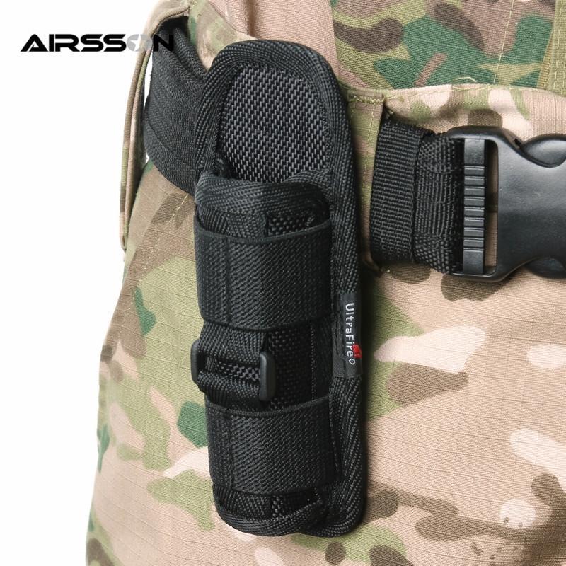 Taktische 360 Grad drehbare Taschenlampe Taschenlampe Holster Fackelkoffer für Gurt Fackelabdeckung Jagd Lightiting Zubehör